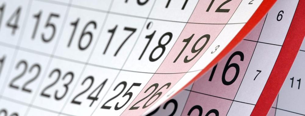graphic of a calendar