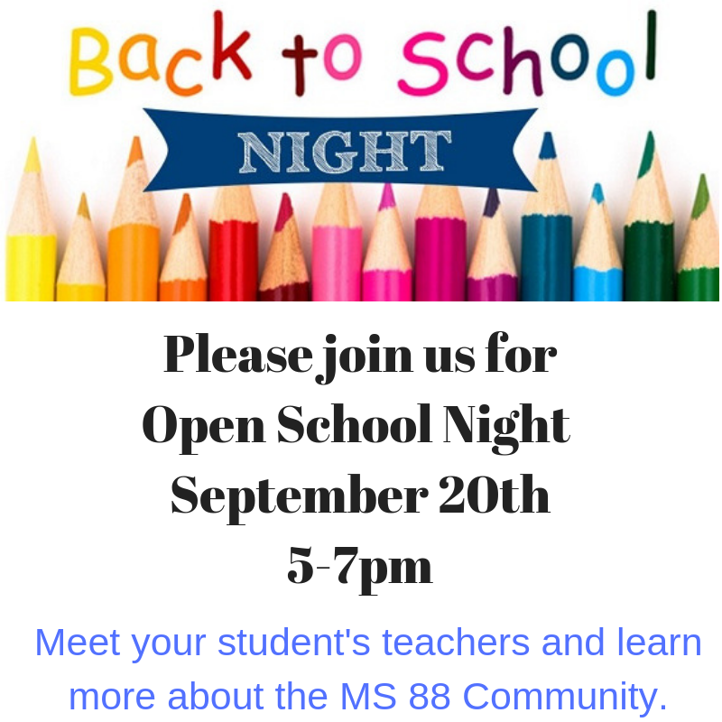 Open School Night