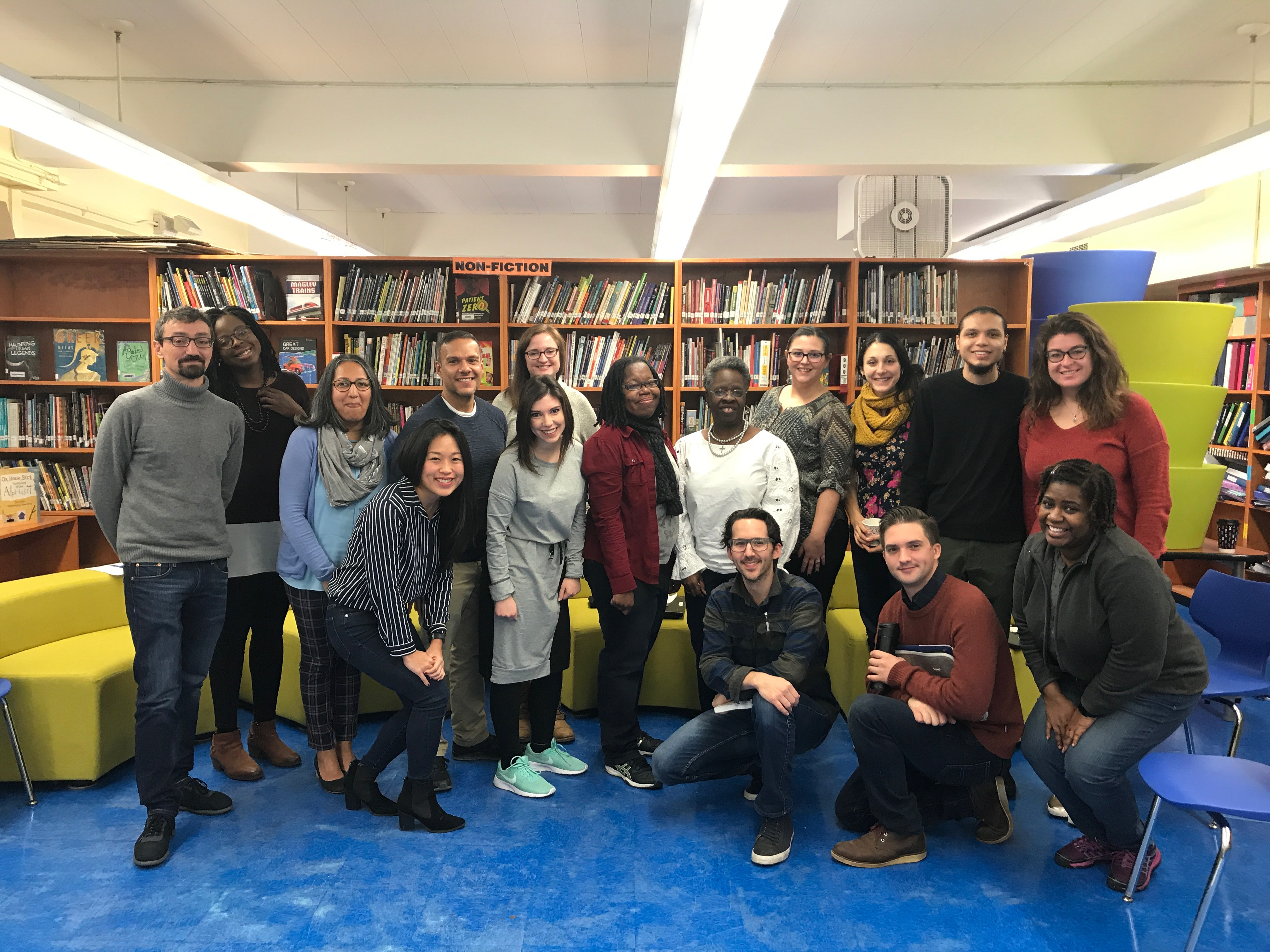 the equity team in the library