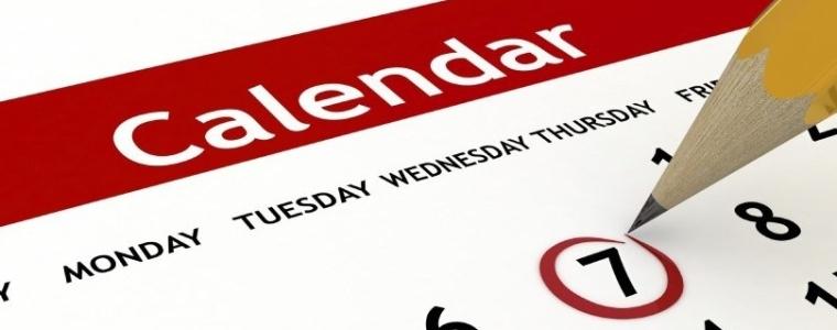 calendar illustration showing days of the week
