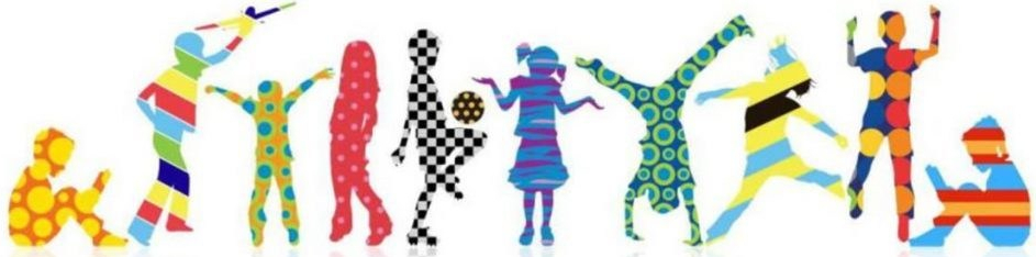 illustration of children's silhouettes playing