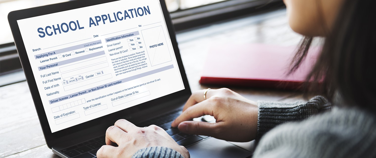 image of person filling out online application