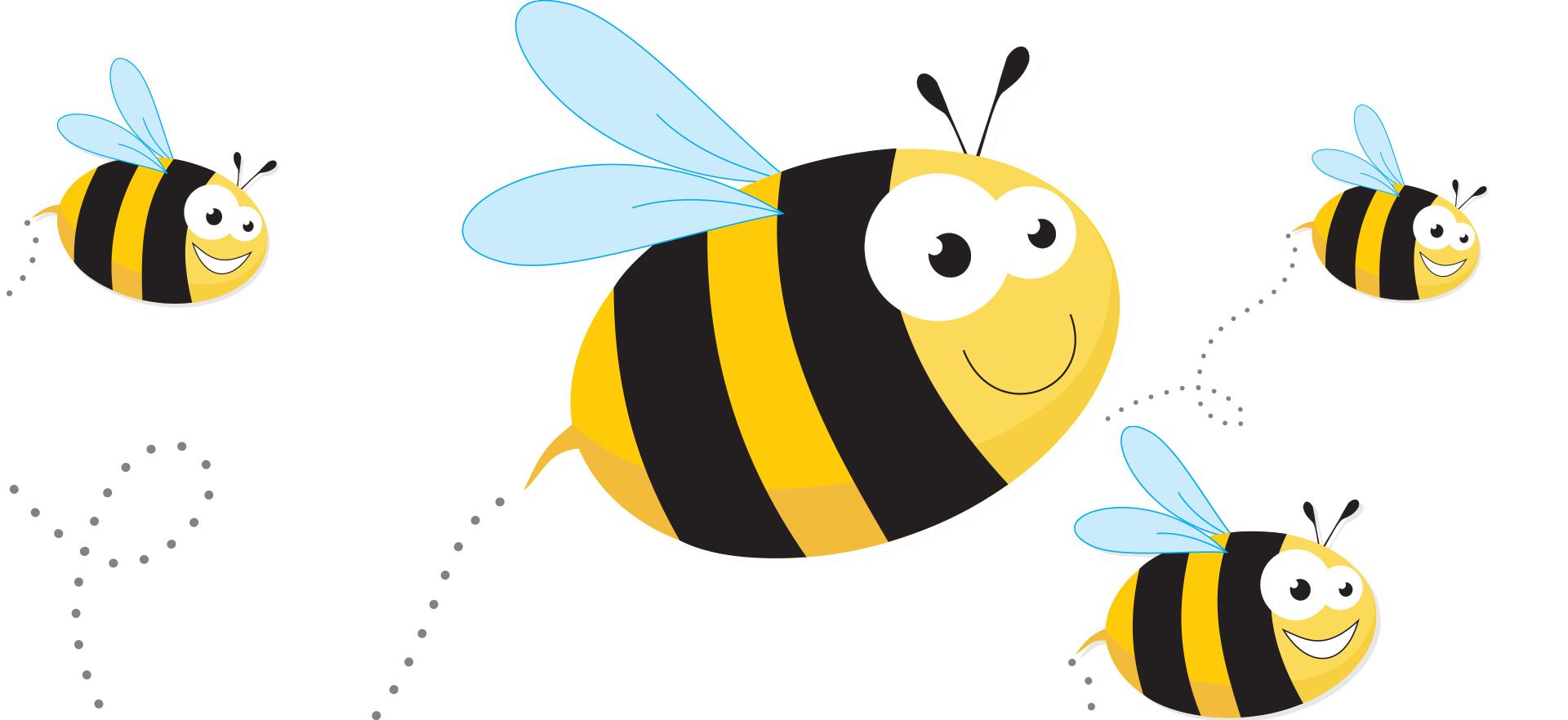 cartoon image of bees