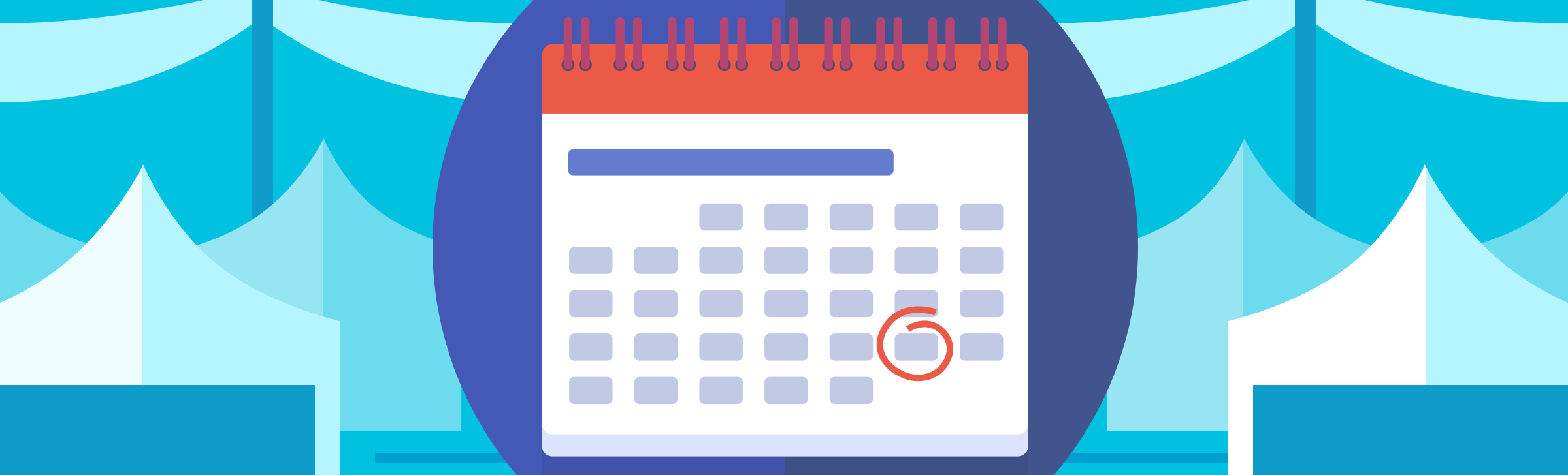 illustration of calendar with day circled