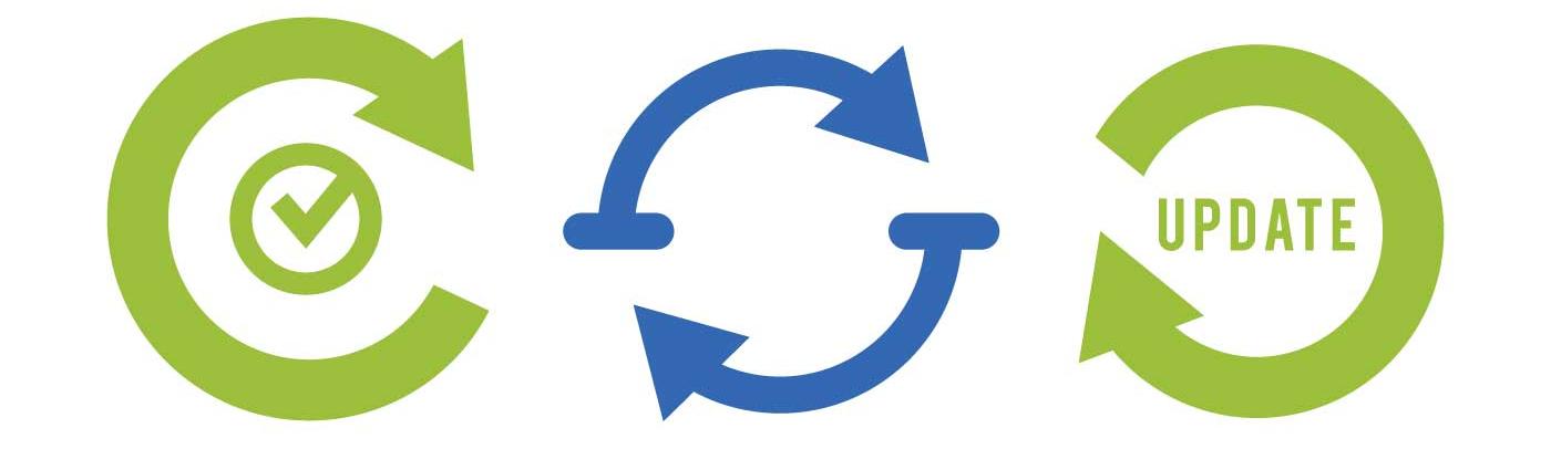 "image of arrows displaying word ""update"""